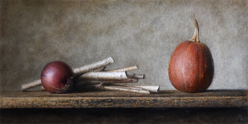 © Bev Byrnes--Red onion, sticks, winter squash