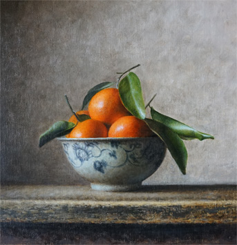 Bowl with mandarins, 2015