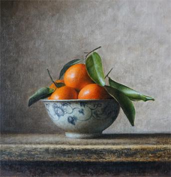Bowl with mandarins, 2015
