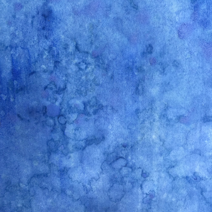 Detail -- lapis lazuli pigment on kumohadamashi paper